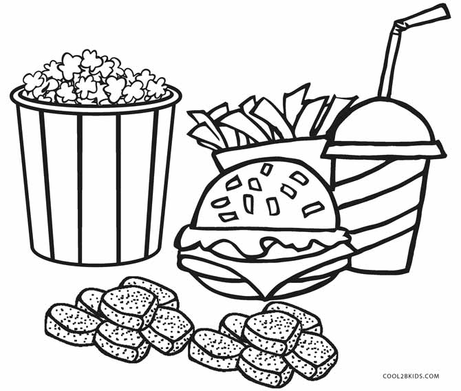 Printable Food Coloring Pages  5024