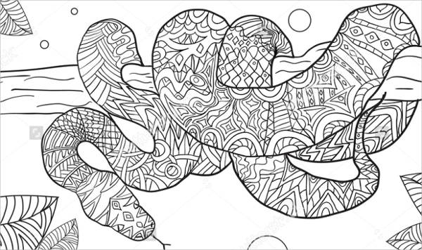 Snake Coloring Page  19917
