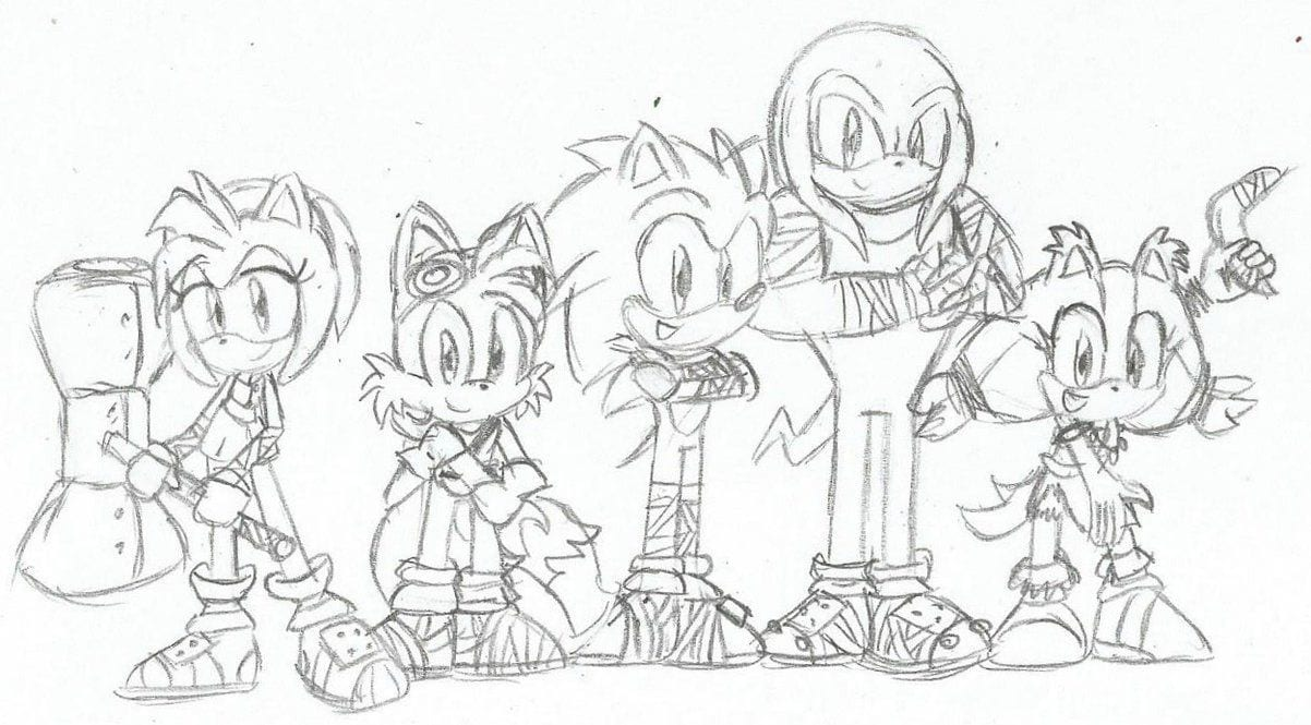 Sonic Boom Coloring Pages 4 For Children