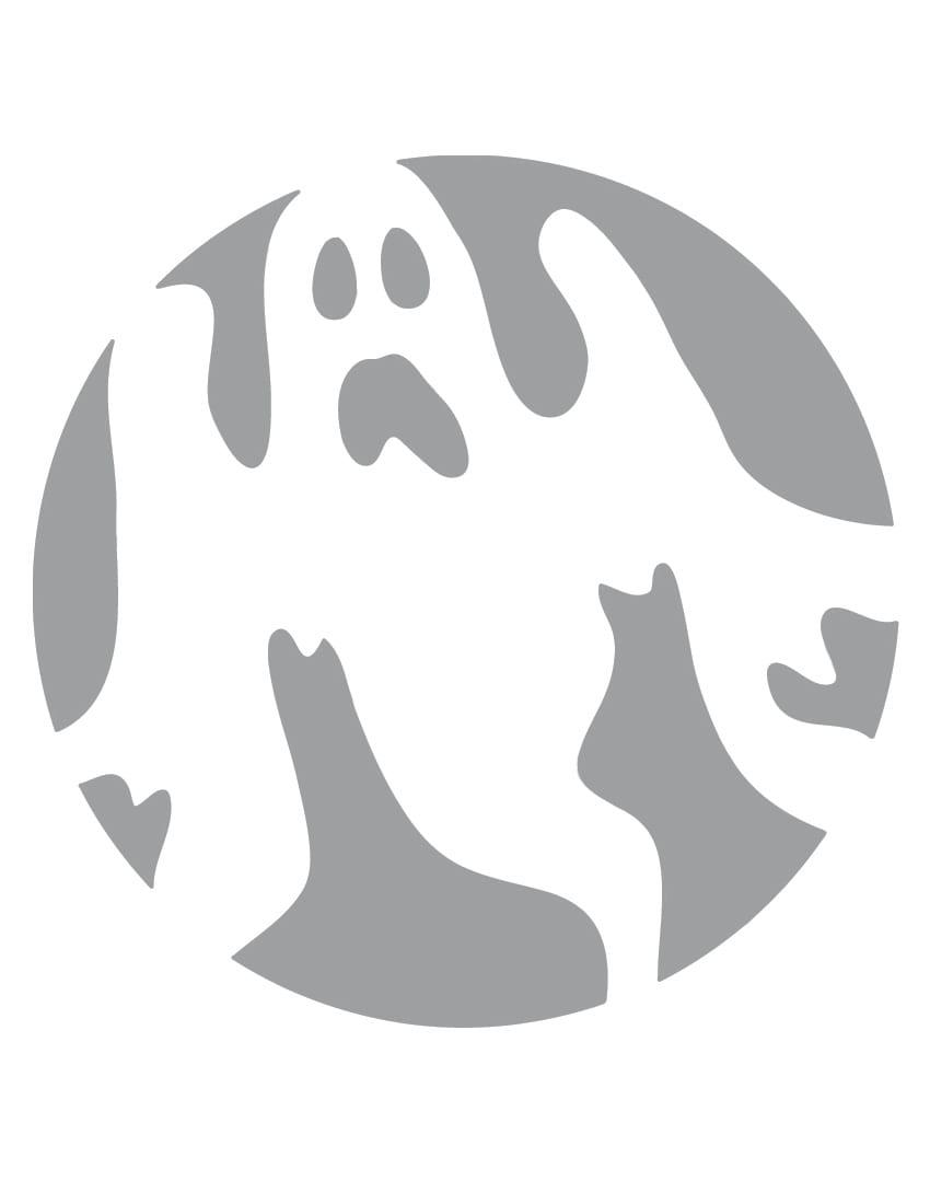 Printable Ghost Stencil
