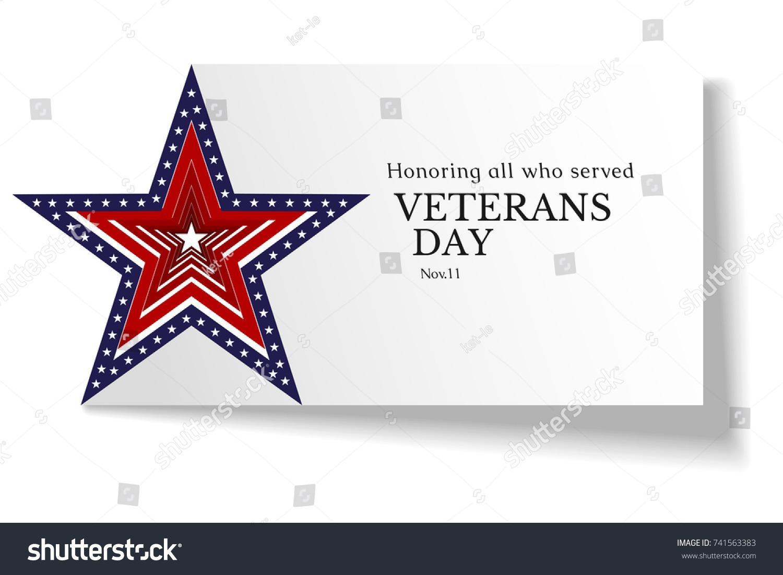 Banner On Veterans Day Usa November Stock Vector (royalty Free