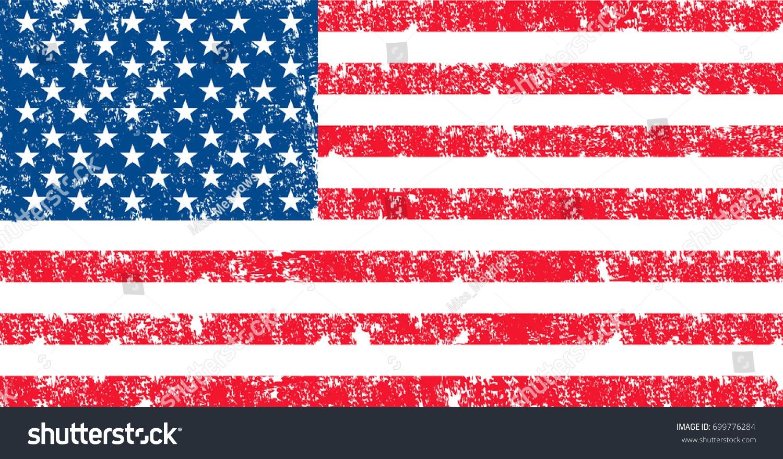 Vector Flag Usa Oficcial Color Proportion Stock Vector (royalty