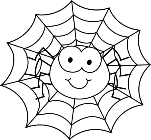 Free Printable Spider Web Coloring Pages For Kids With