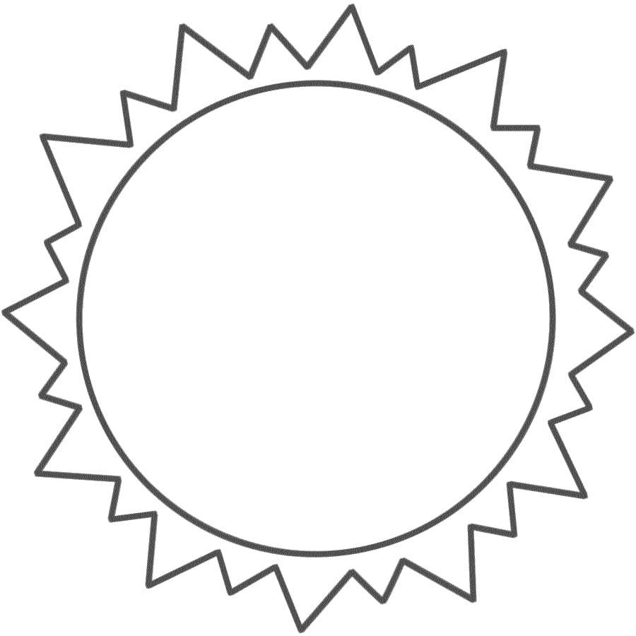 Printable Sun Template