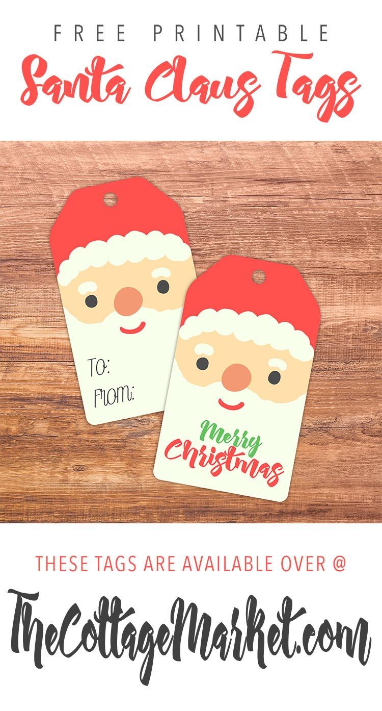 Free Printable Santa Claus Tags