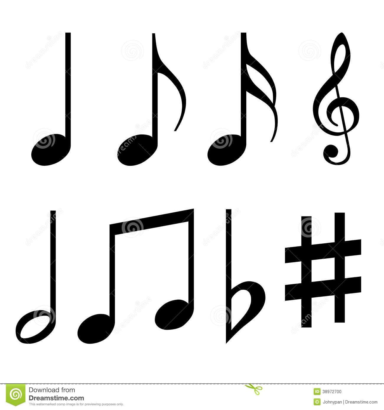 Terrific Printable Musical Notes Symbols Music 25426