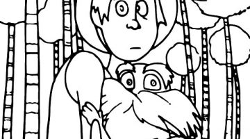 The Lorax Characters Coloring Pages