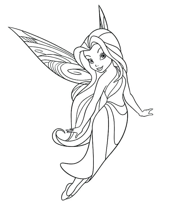 Tinkerbell Fairies Coloring Pages  17742