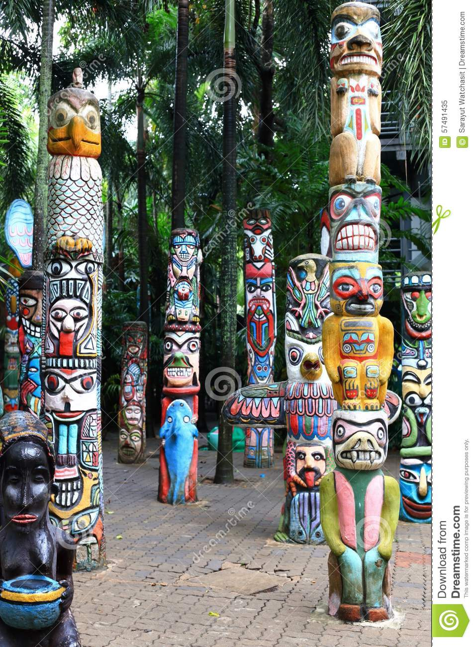 Totem Pole Stock Image  Image Of States, Animals, Columbia