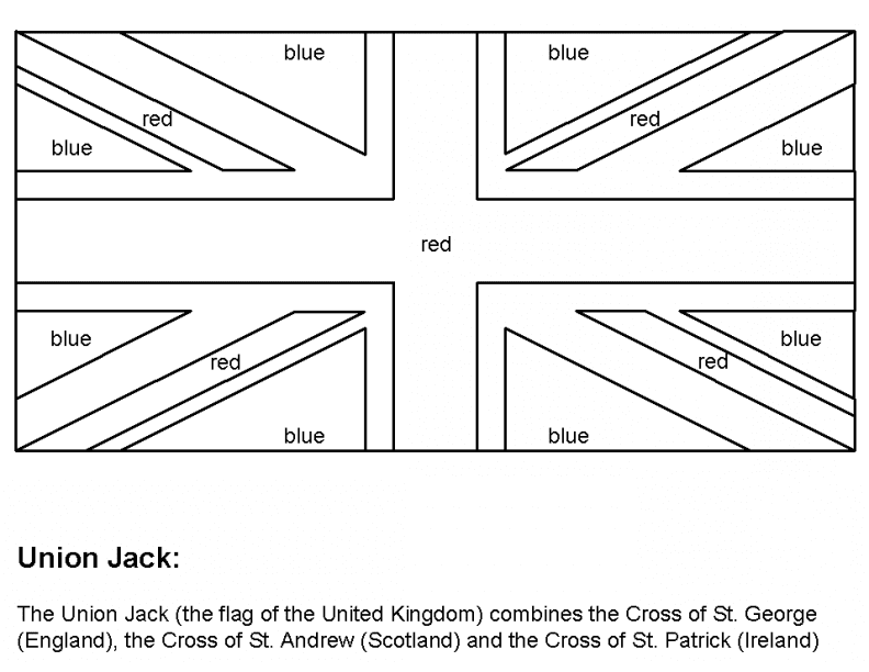 Union Jack Coloring Page Flag Printable British