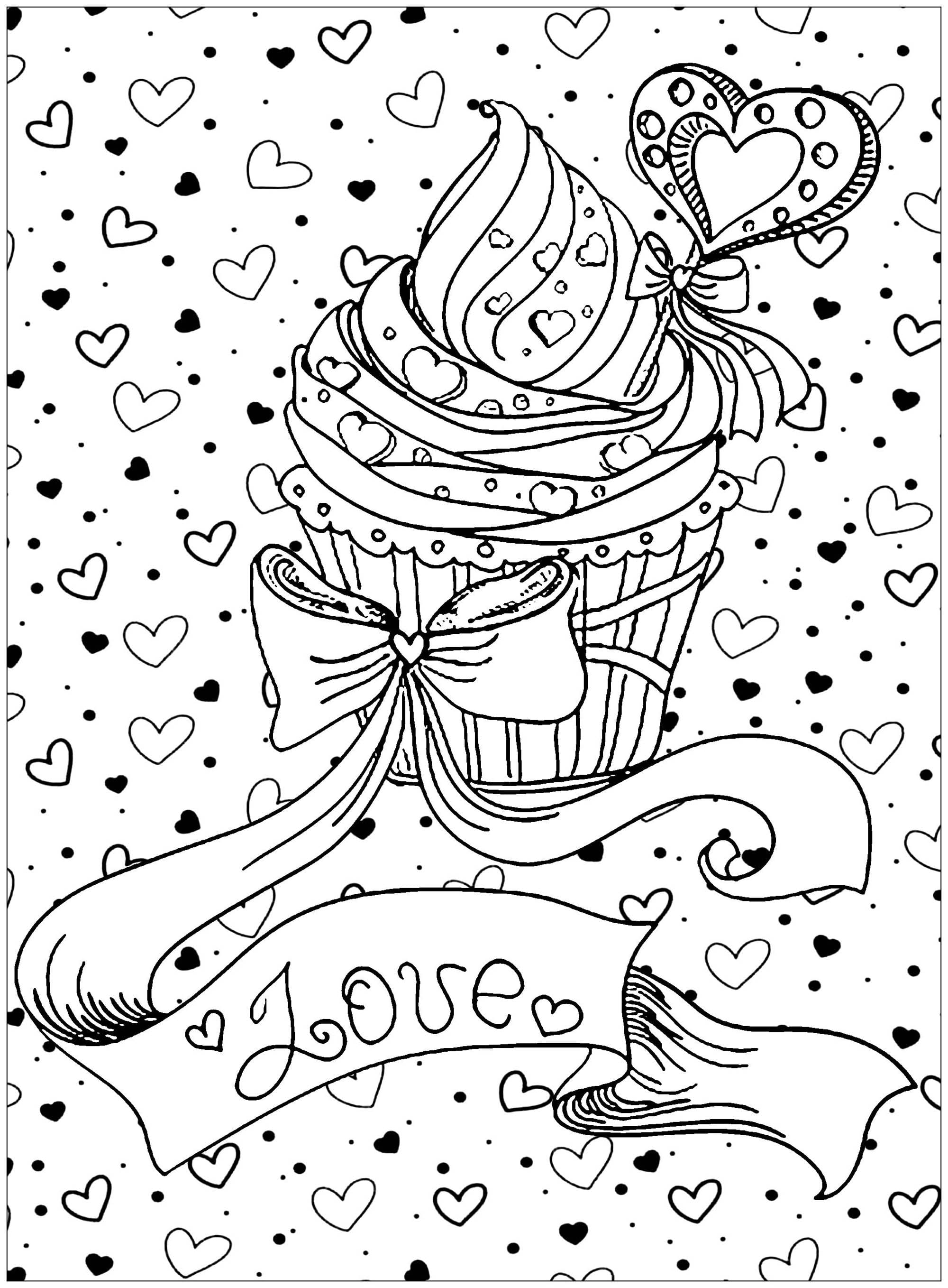 Unsurpassed Pastry Coloring Pages Cupcake Free Cup Cake Neo Coloring