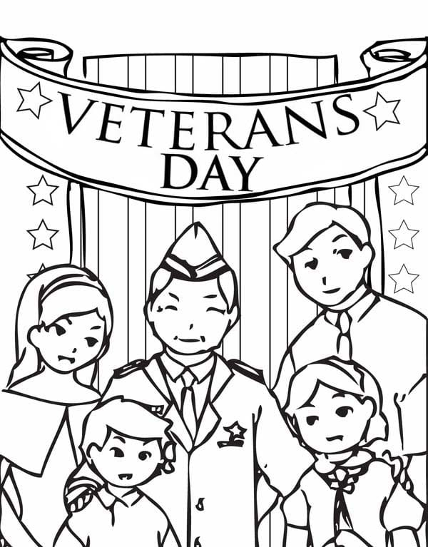 Veterans Day Coloring Pages Printable Bed Popular Free Printable