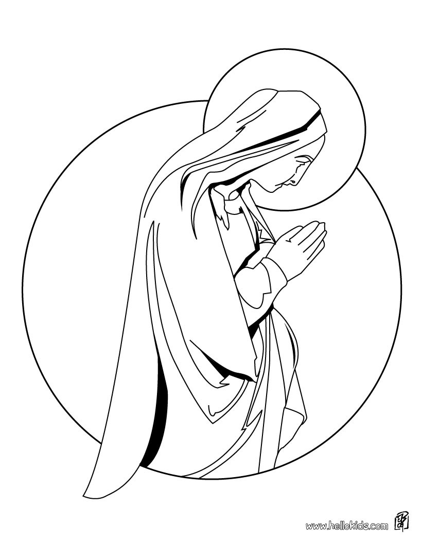 Virgin Mary Coloring Pages