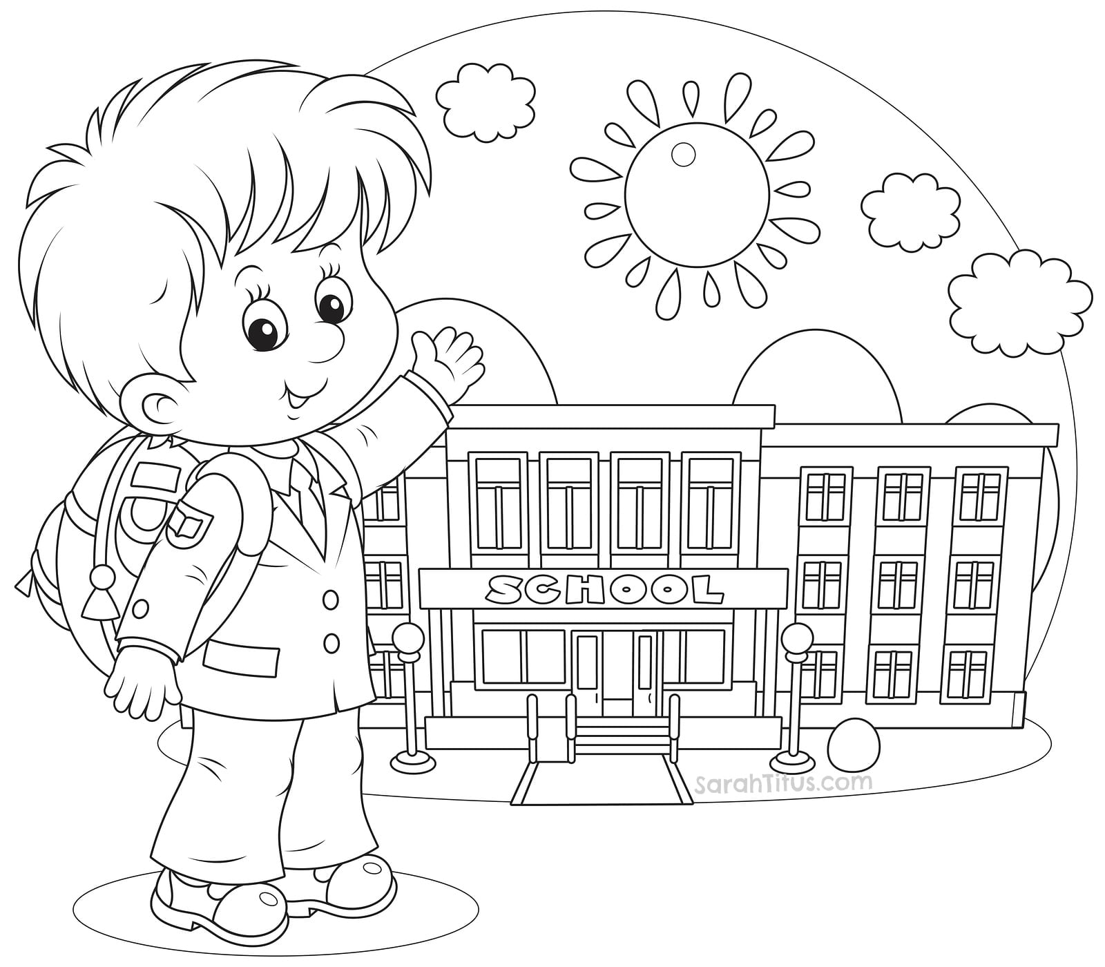 Welcome Back To School Coloring Pages 52 With Welcome Back To