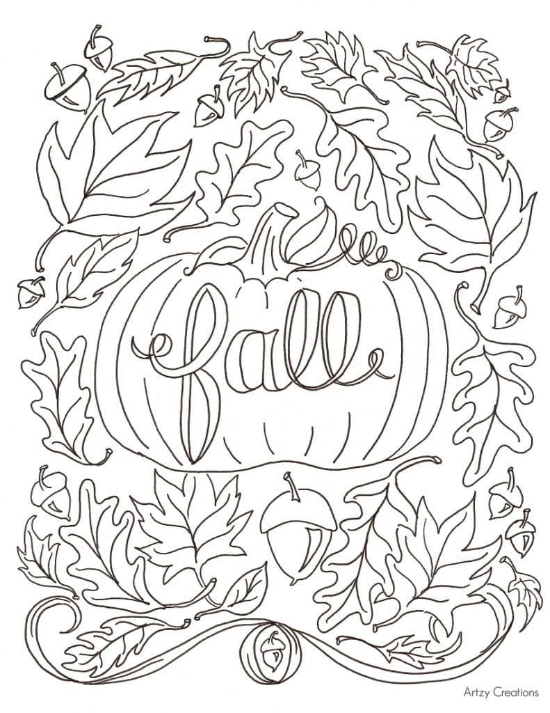 Printable Autumn Coloring Pages  2609745