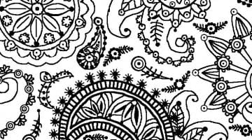 Printable Flower Patterns To Color