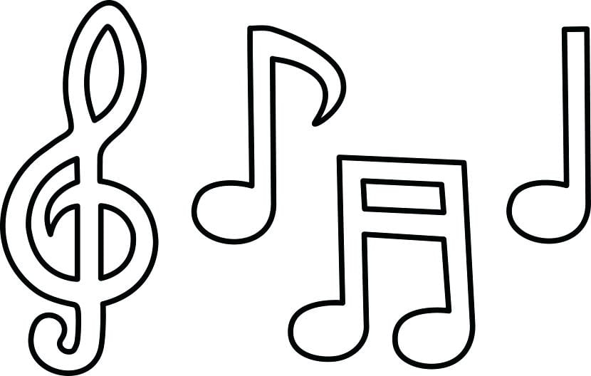 Custom Music Notes Symbols Coloring Pages Printable Photos Of