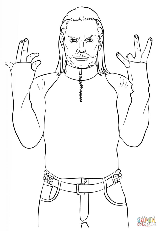 Wwe Jeff Hardy Coloring Page