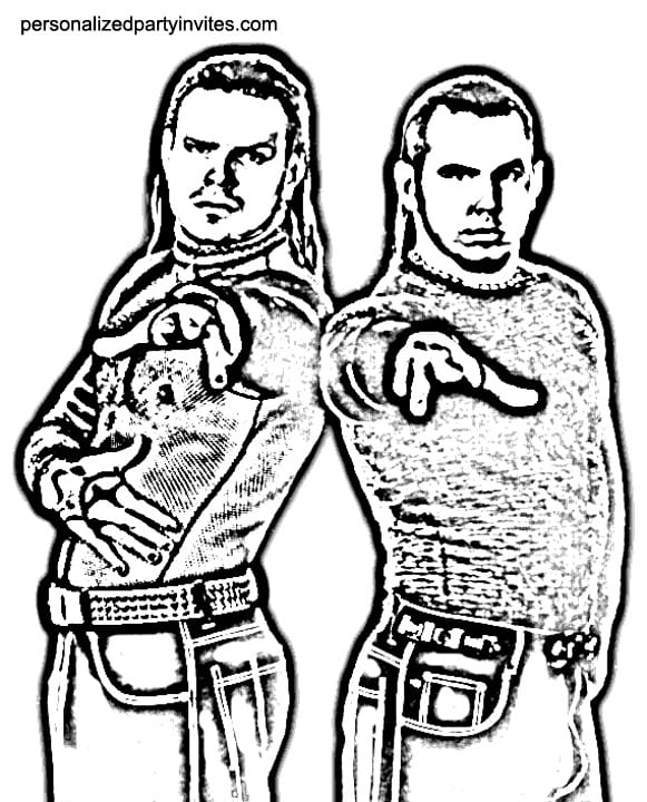 Tna Jeff Hardy Coloring Pages