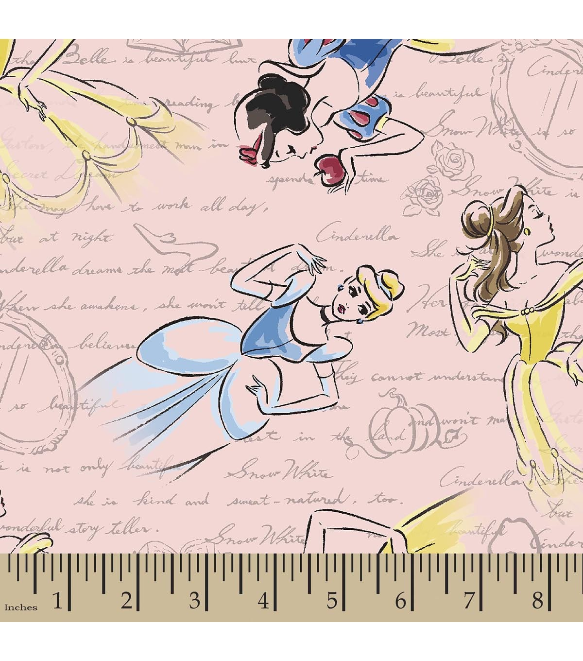 Disney Princess Print Fabric