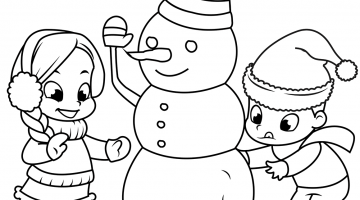 The Snowman Colouring Pages