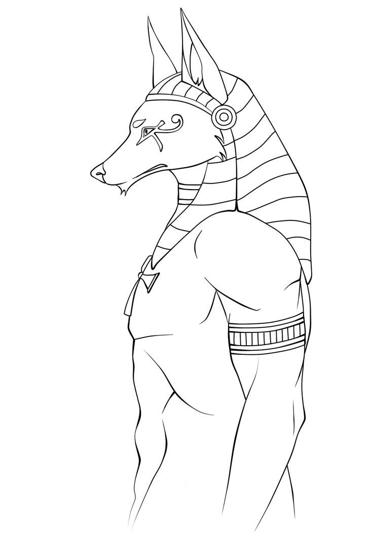 Anubis Coloring Pages - NEO Coloring