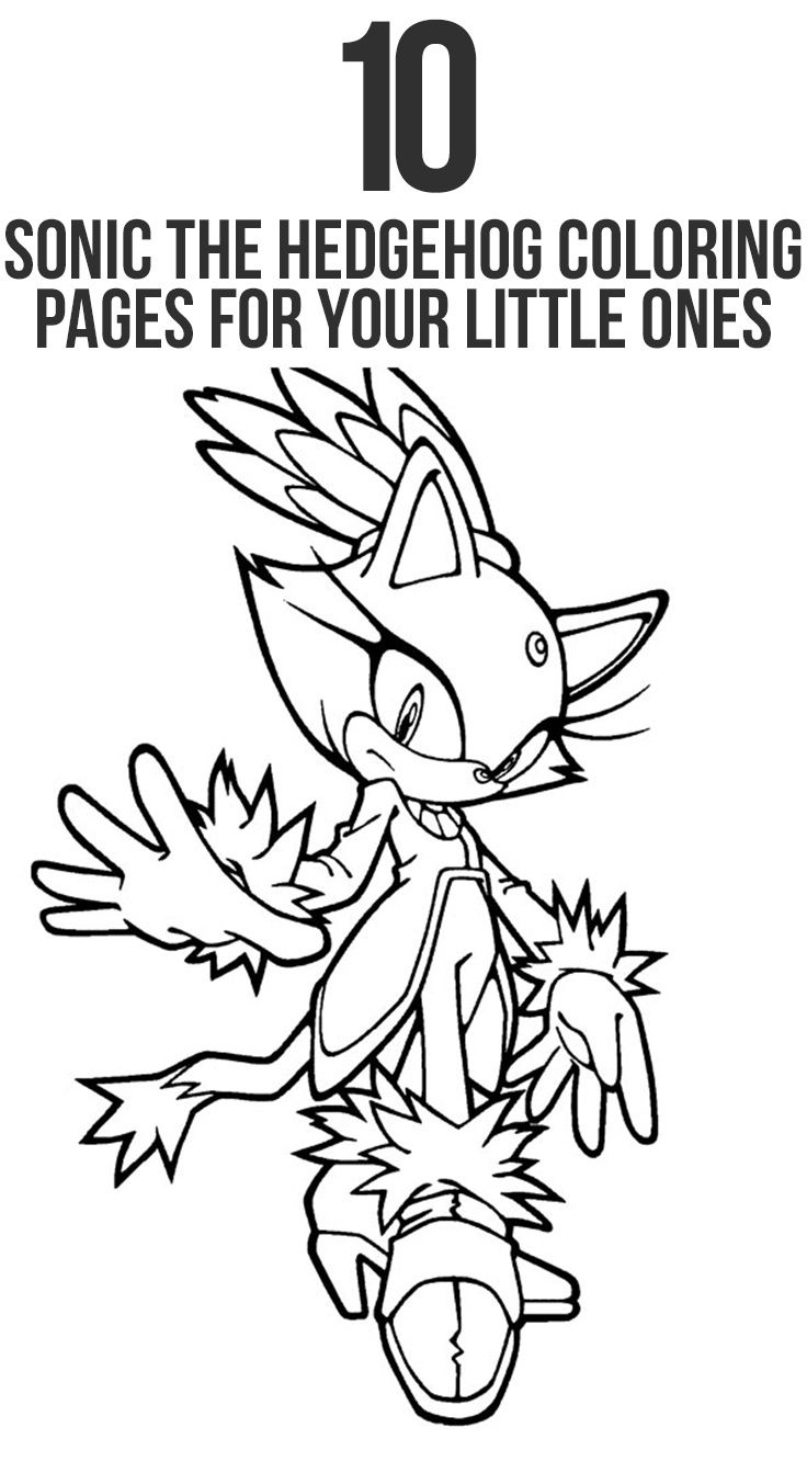 21 Sonic The Hedgehog Coloring Pages