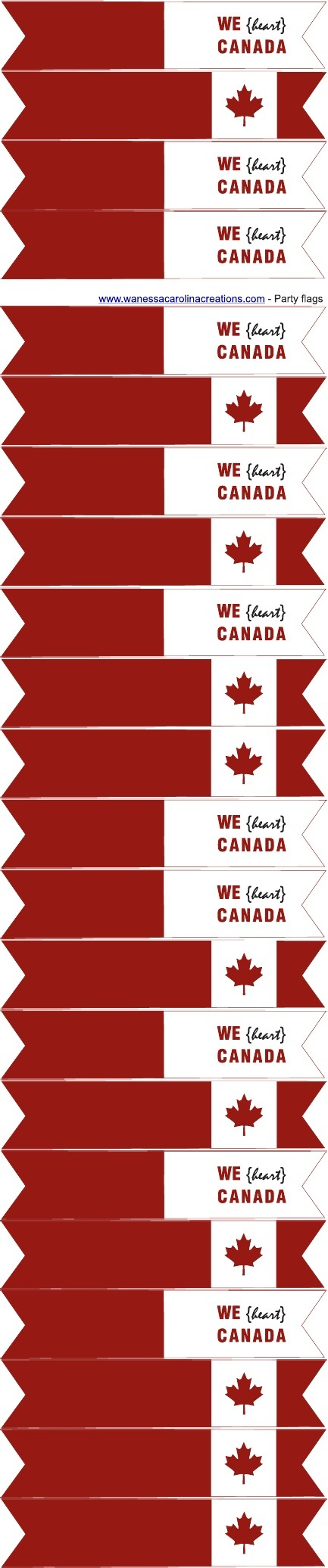 Canada Day {love The Leaf} Free Printables
