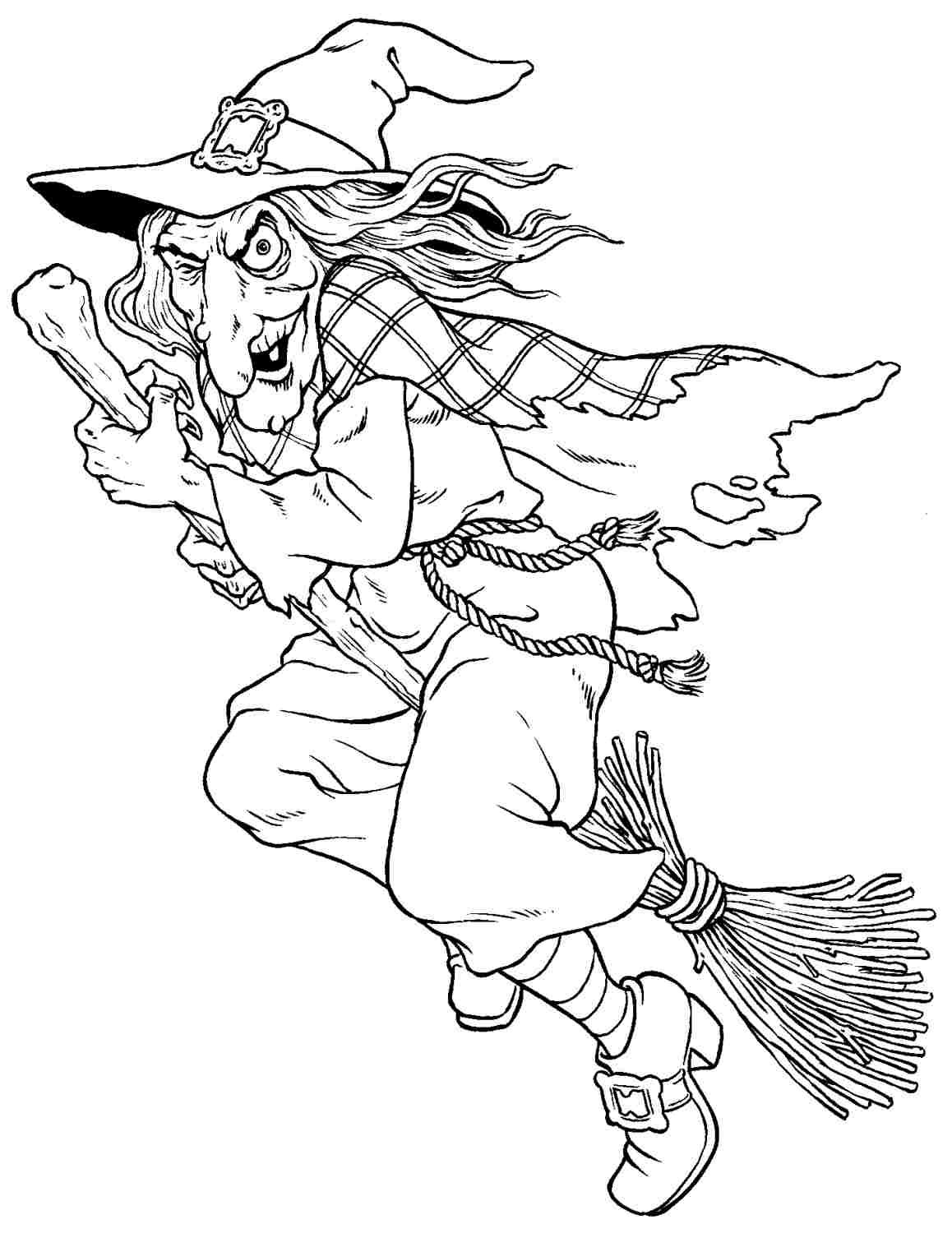 Witches Colouring Pages