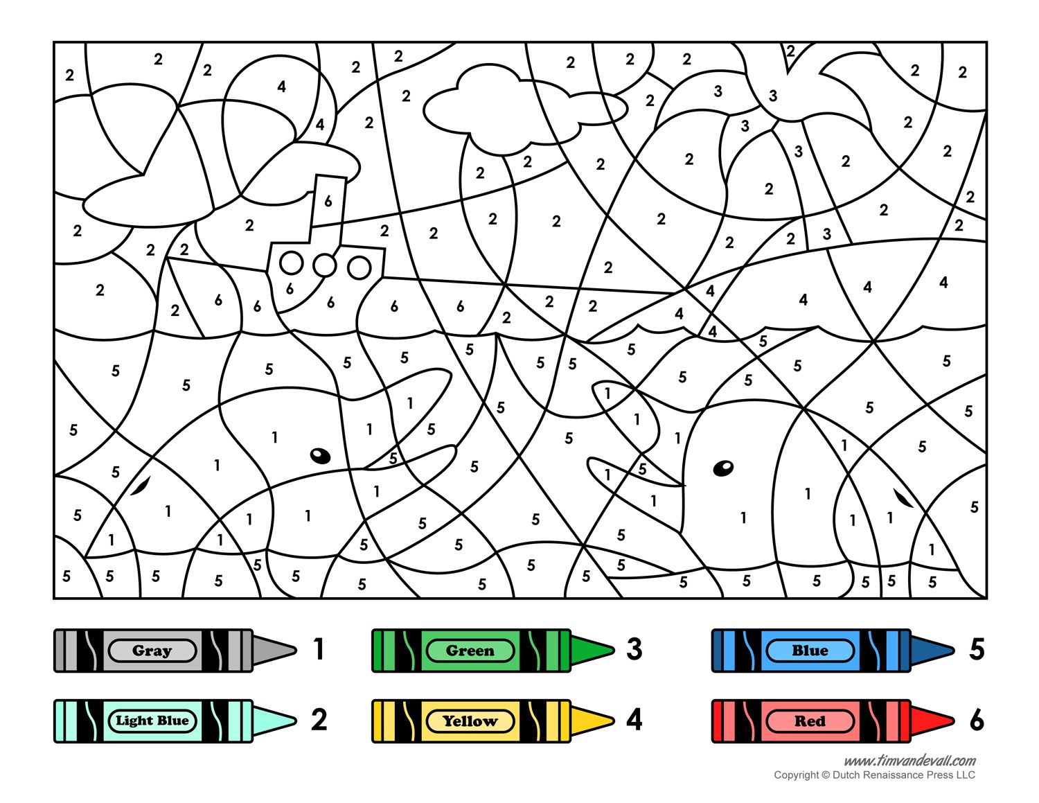 A Color By Number Printable For Kids  Road Trip Activitiesroad