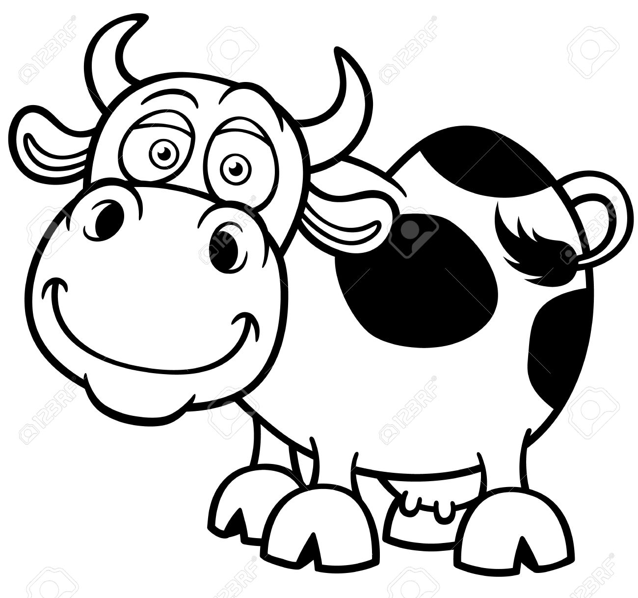 Illustration Of Cartoon Cow