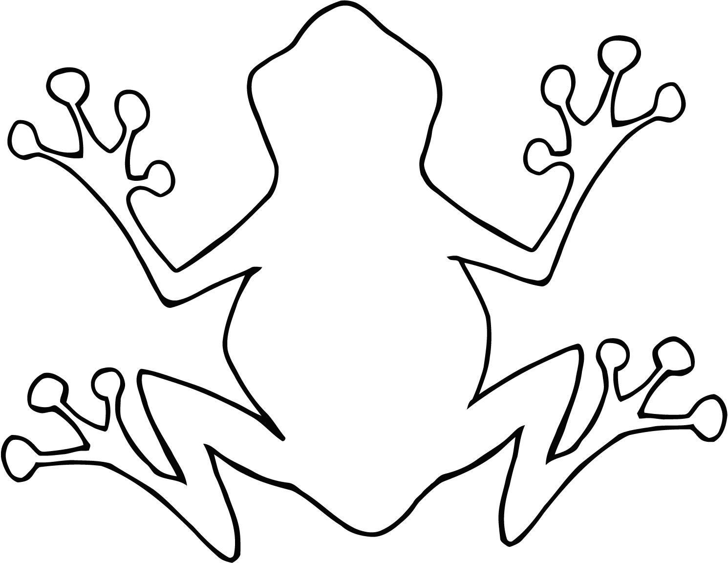 Tree Frog Outline