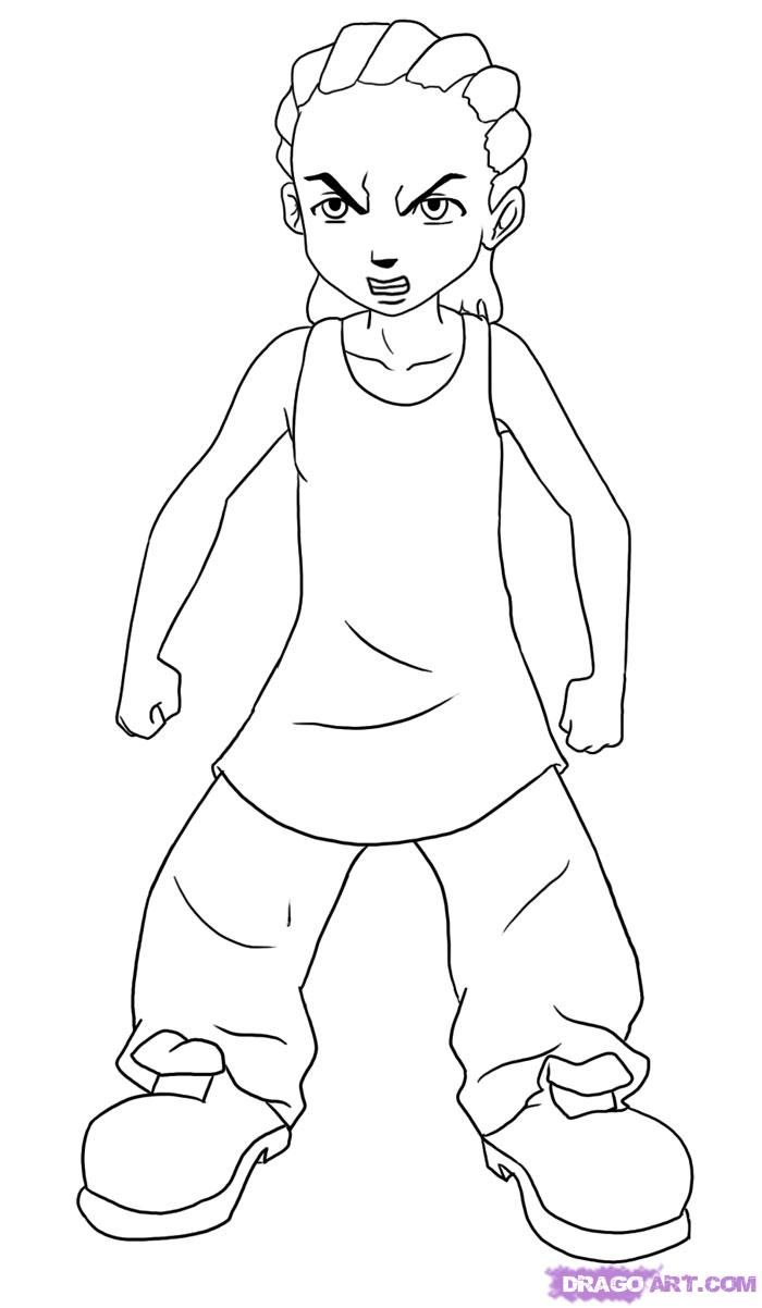 Boondocks Riley Coloring Pages