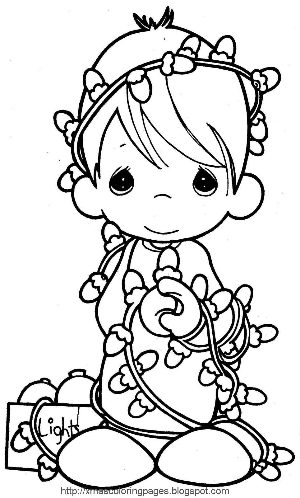 Xmas Coloring Pages  Angel Coloring Page