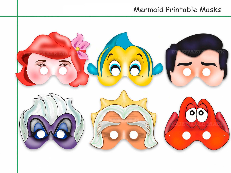Unique Mermaid Printable Masks