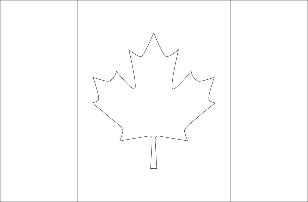 Last Minute Canada Flag Template Stencil Of On Wooden Vector Image