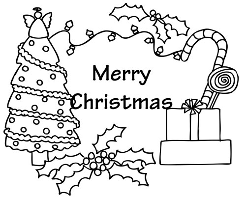 Satisfying Printable Christmas Coloring Pages Free 10