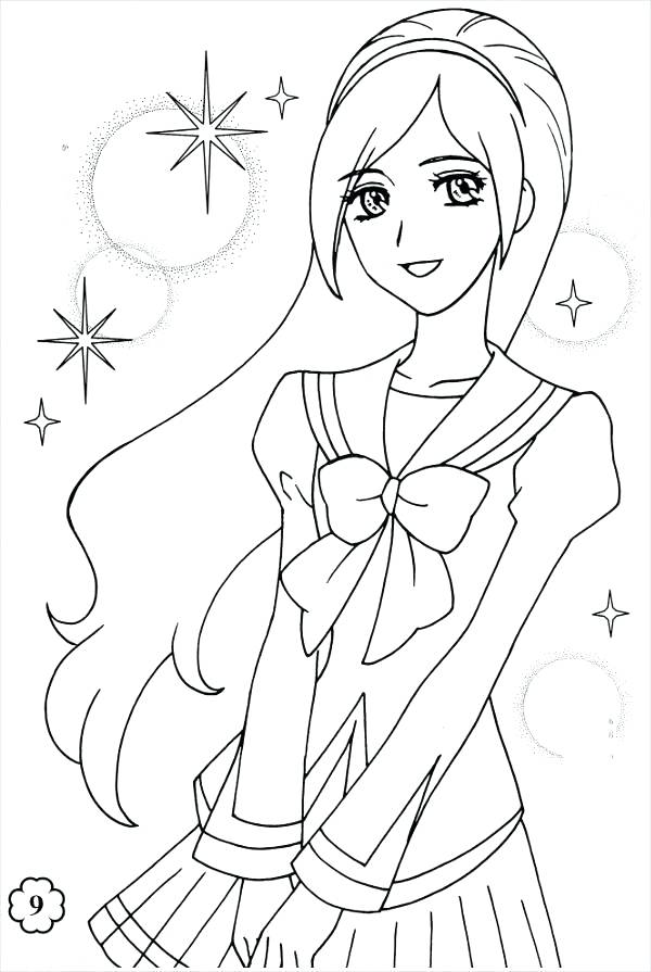 Anime Girl Coloring Pages  1634