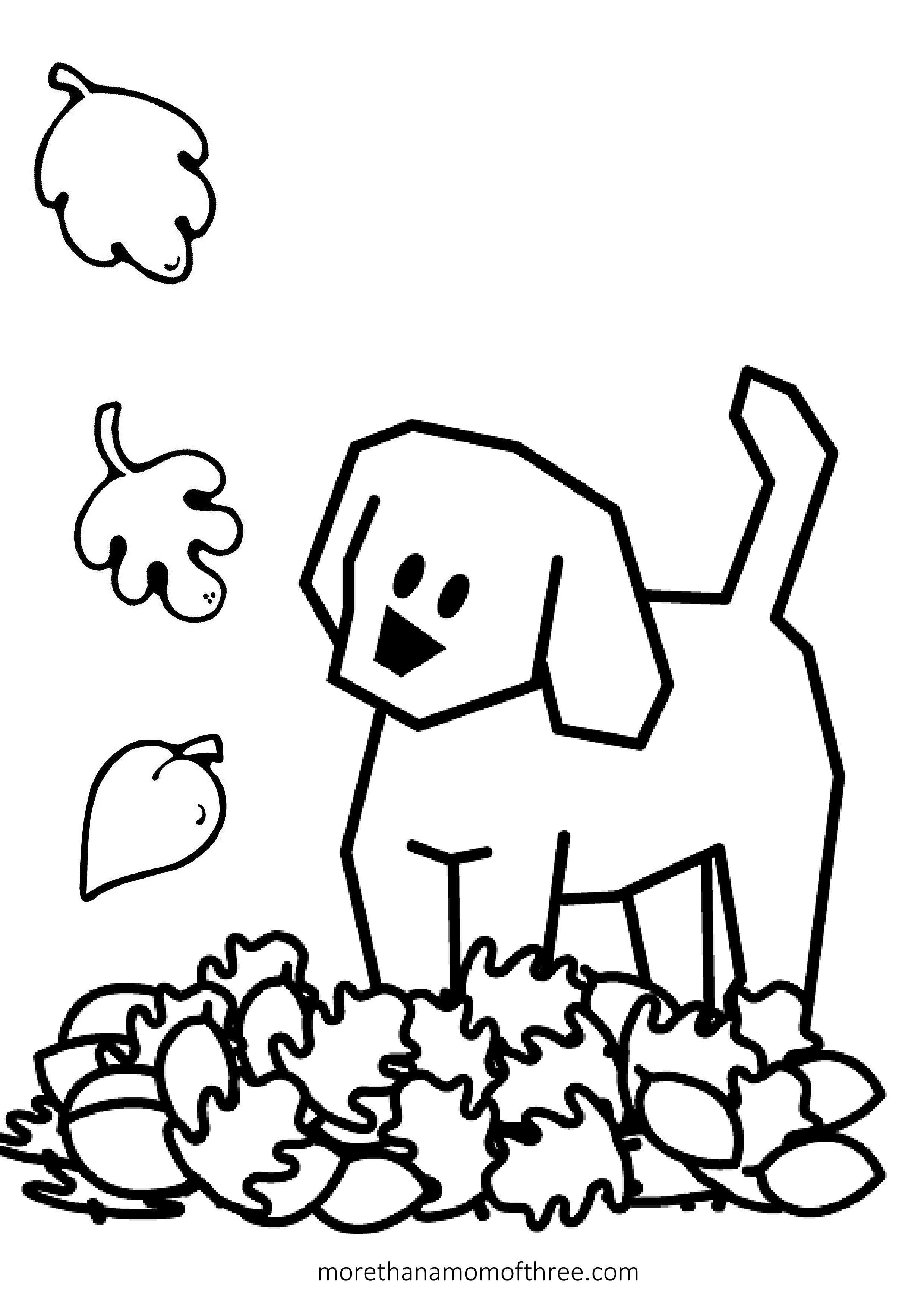 Fall Coloring Pages For Preschoolers 10847 Inside