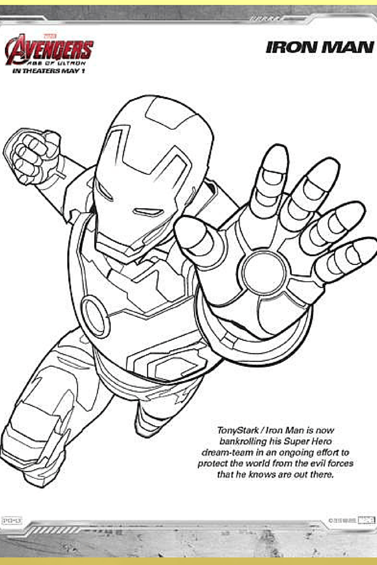 Marvel's Avengers  Age Of Ultron Printable Color Pages ⋆ My