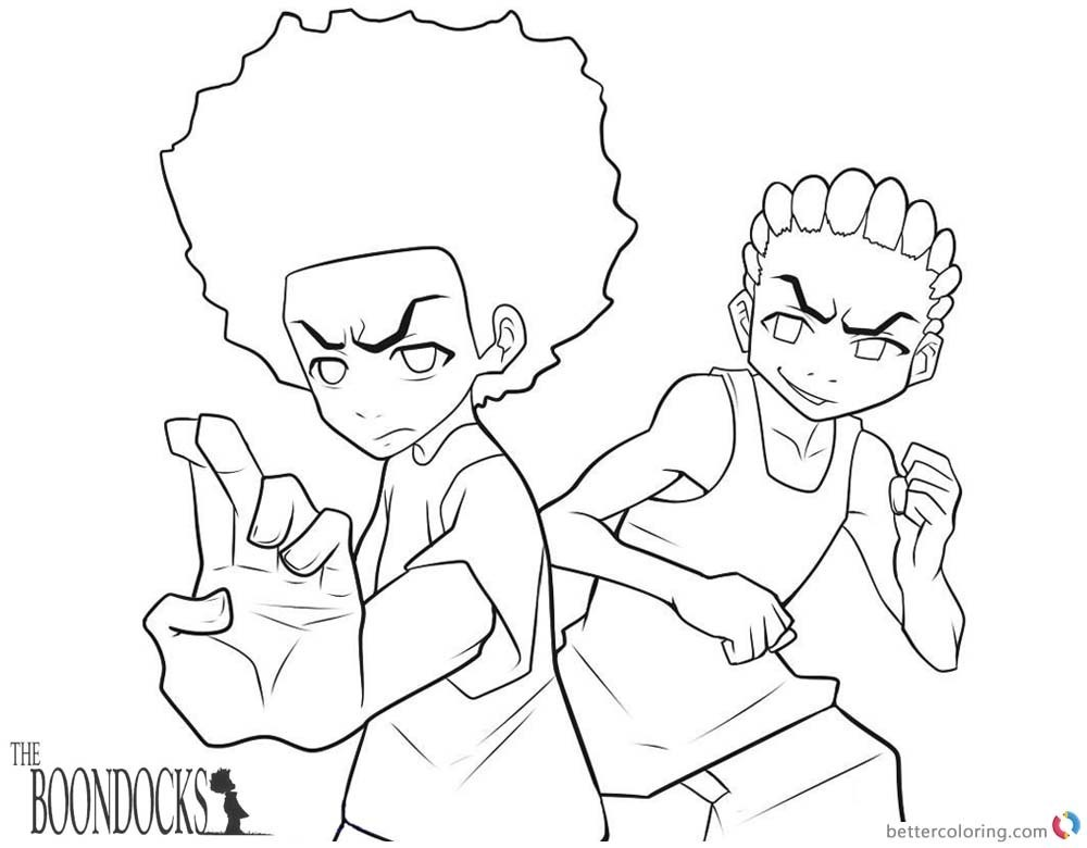 Riley Boondocks Coloring Sheets