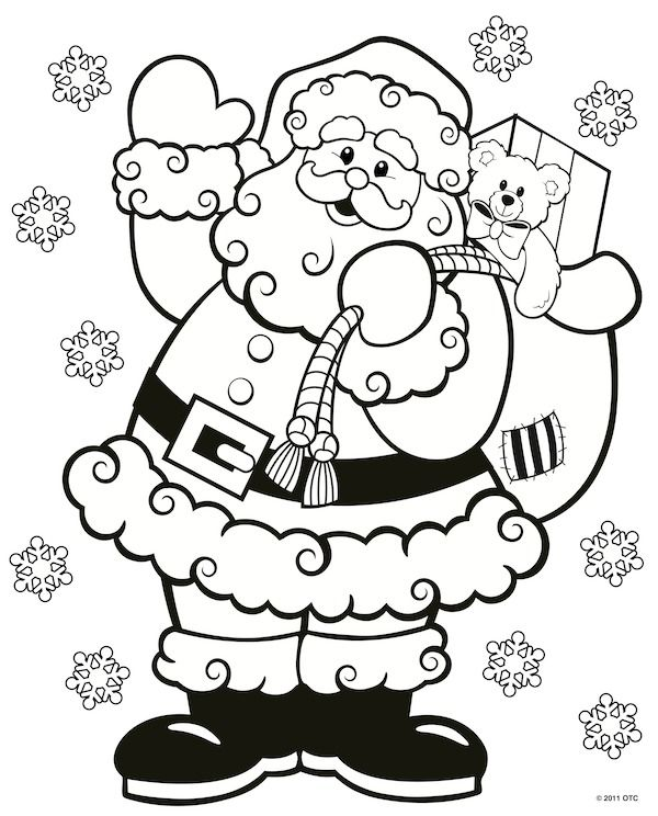 Simple Free Christmas Coloring Pages Printable 1