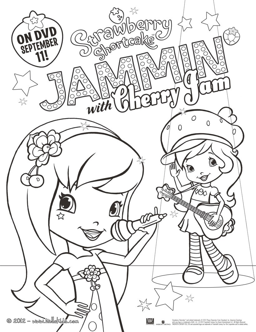 Strawberry Shortcake And Apple Dumplin Coloring Pages