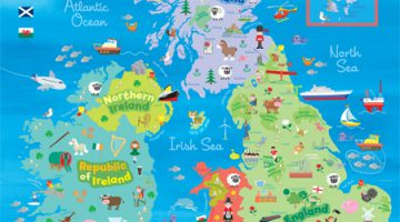Map Of Scotland For Children