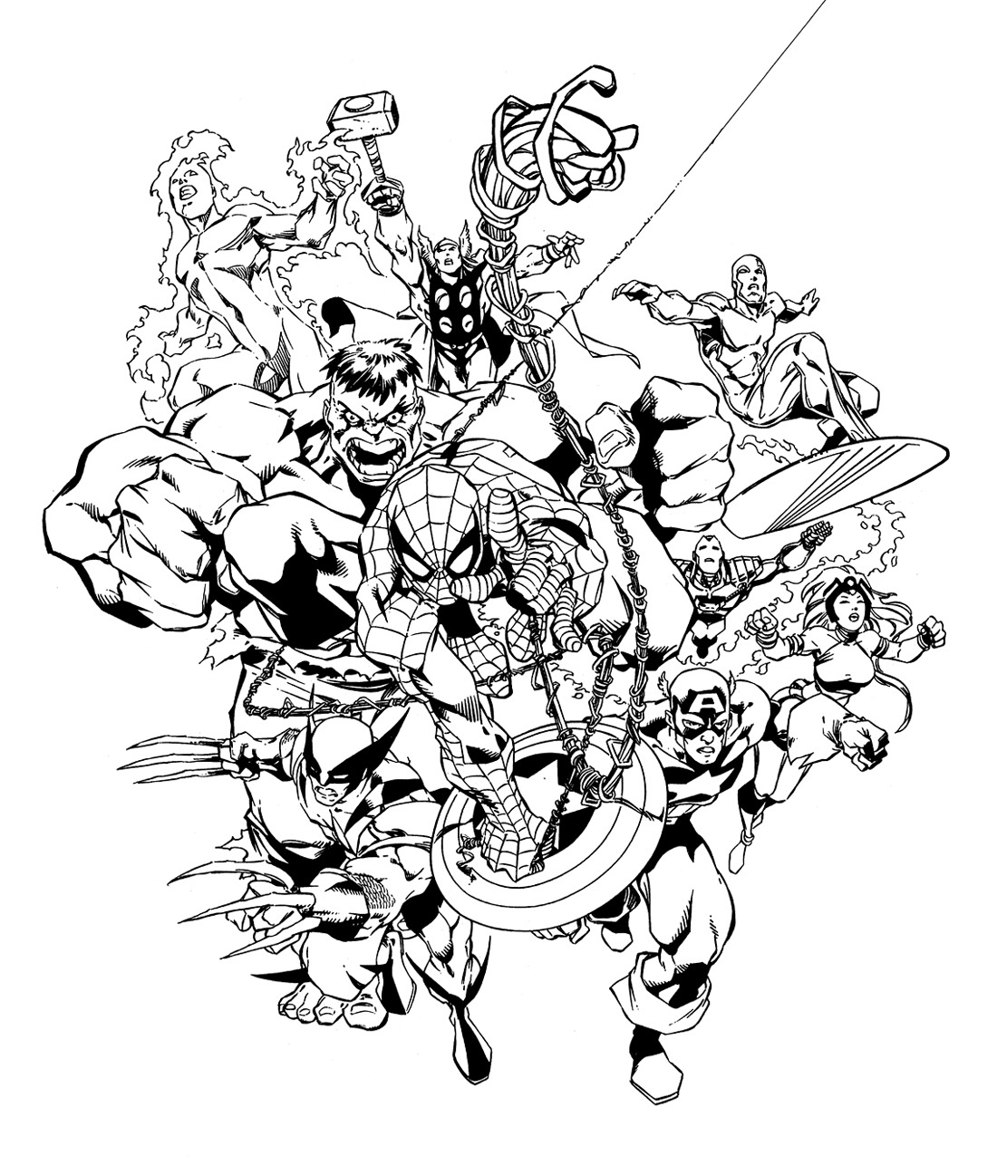 Avengers Free To Color For Children