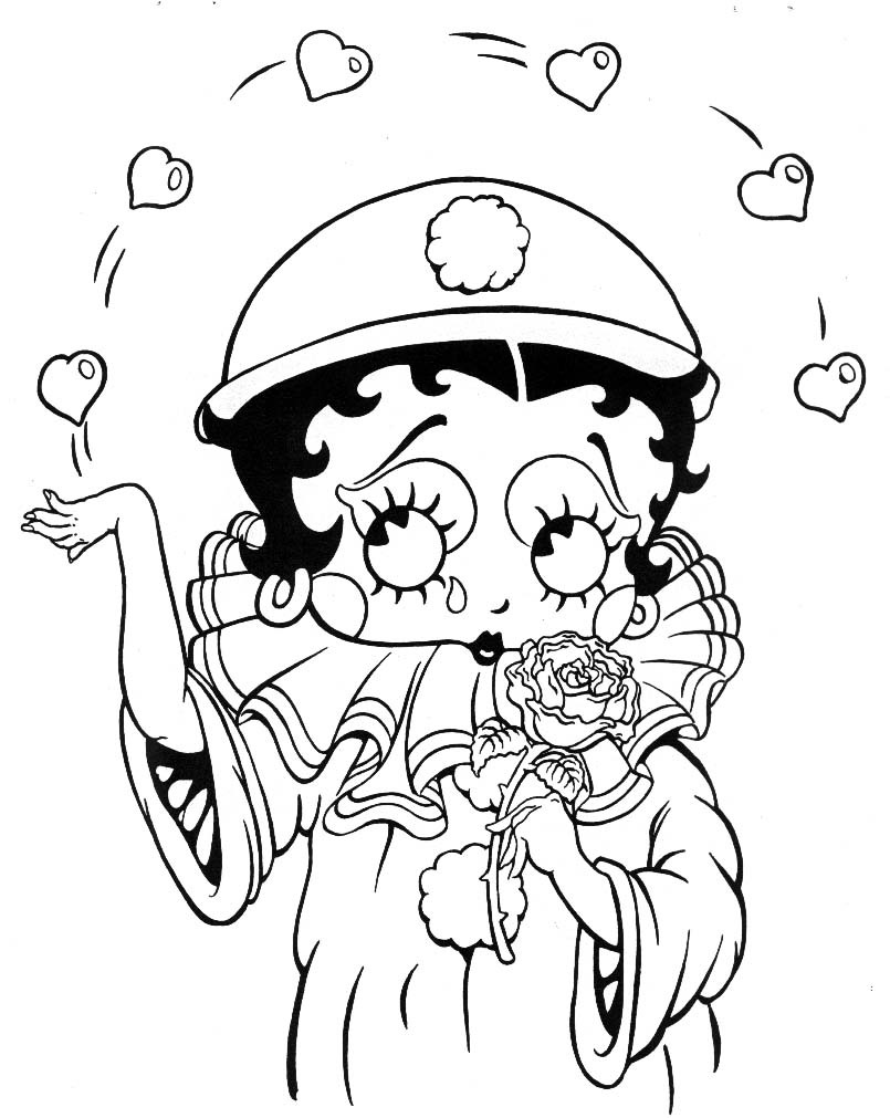 Betty Boop To Color For Children