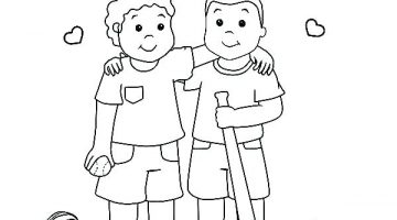 Friendship Colouring Pictures