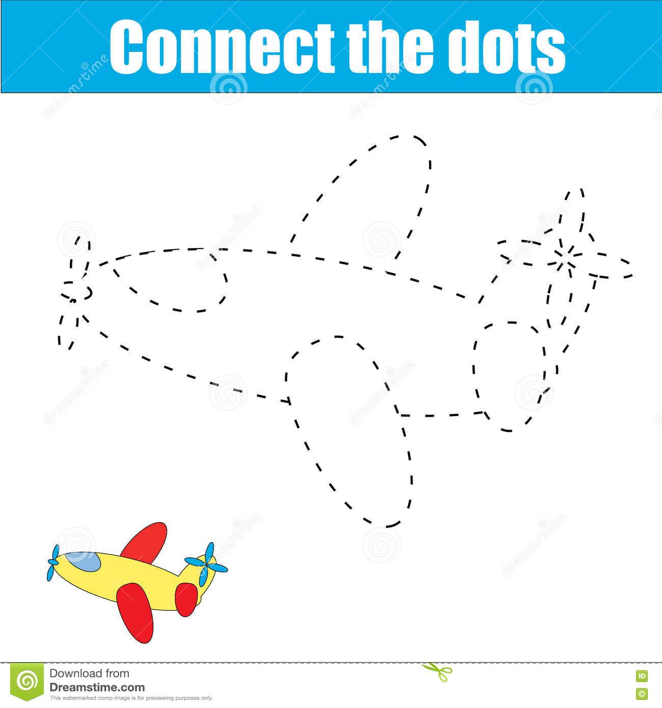 Dot To Dot Plane Game Stock Illustrations – 29 Dot To Dot Plane