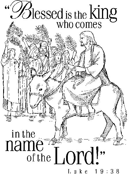 Coloring Pages Of Jesus Riding A Donkey  Mary And Joseph Donkey