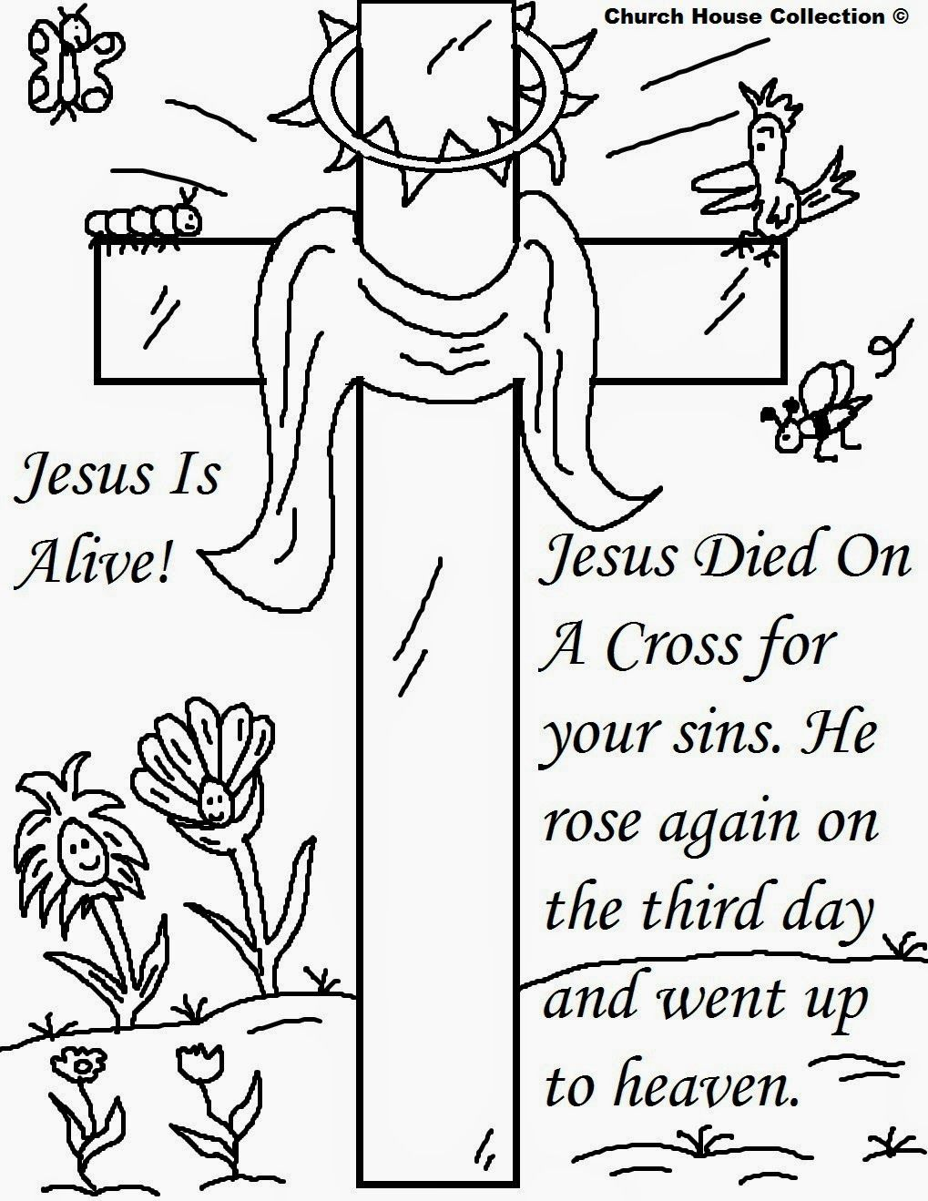 Church House Collection Blog  Easter Jesus Resurrection Coloring